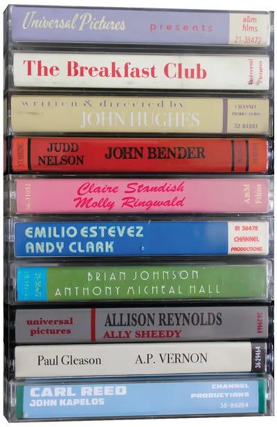 The Breakfast Club As Cassettes Canvas Art Print