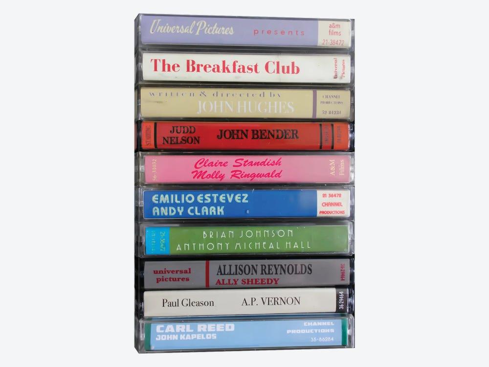 The Breakfast Club As Cassettes by Jordan Bolton 1-piece Canvas Wall Art