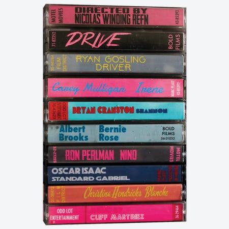 Drive (2011) As Cassettes Canvas Print #BLT50} by Jordan Bolton Canvas Artwork