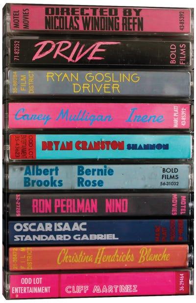 Drive (2011) As Cassettes Canvas Art Print