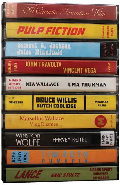 Pulp Fiction As Cassettes Canvas Art Print