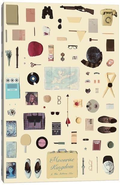 Moonrise Kingdom Objects Poster Canvas Art Print
