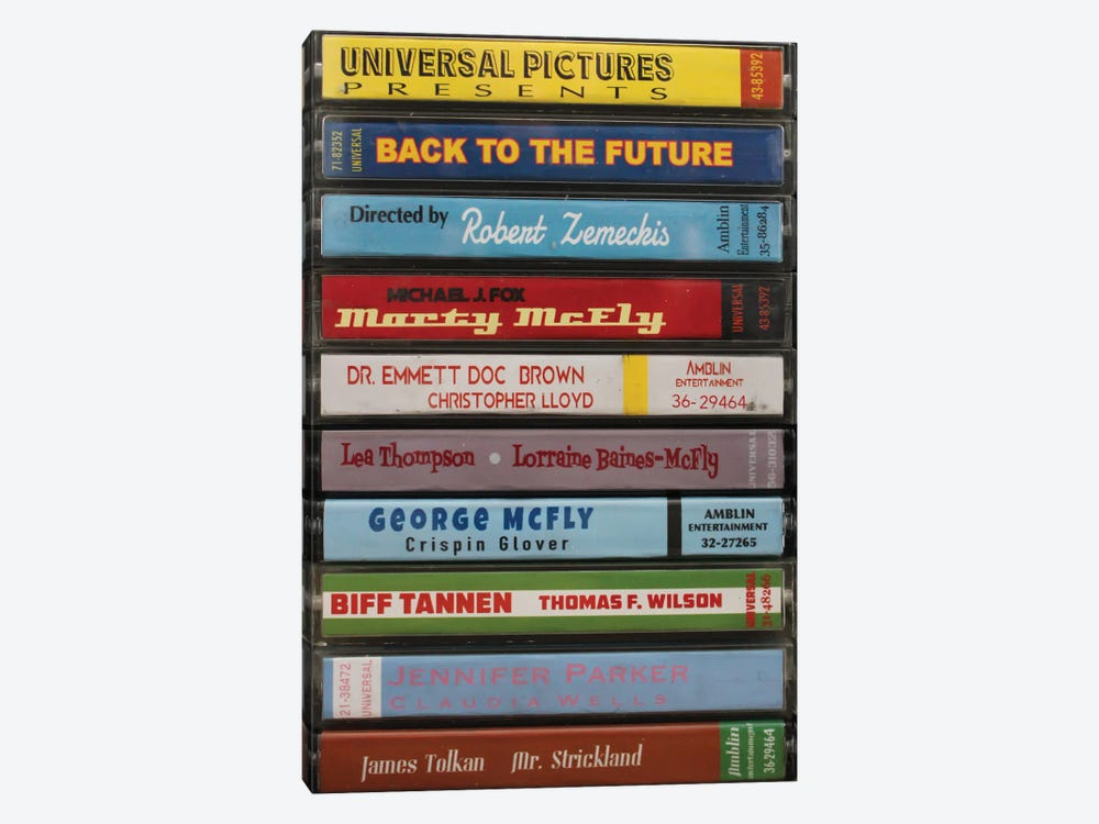 Back To The Future As Cassettes by Jordan Bolton 1-piece Art Print