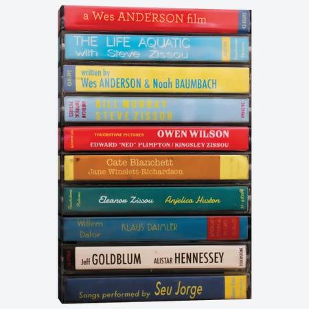 The Life Aquatic With Steve Zissou As Cassettes Canvas Print #BLT61} by Jordan Bolton Canvas Print