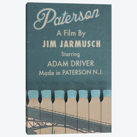 Paterson (2016) Canvas Print #BLT64} by Jordan Bolton Canvas Wall Art
