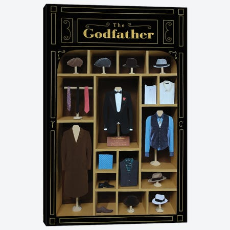 The Godfather Costumes Canvas Print #BLT69} by Jordan Bolton Canvas Print