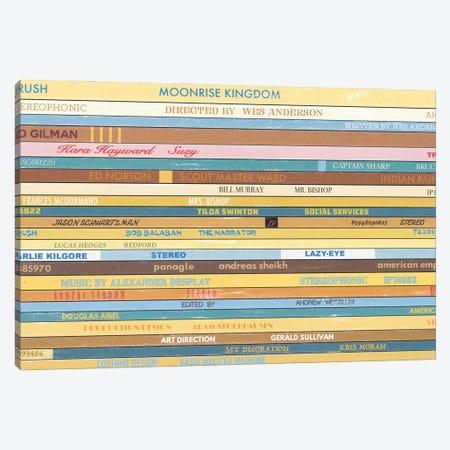 Moonrise Kingdom As Vinyls Canvas Print #BLT6} by Jordan Bolton Canvas Artwork