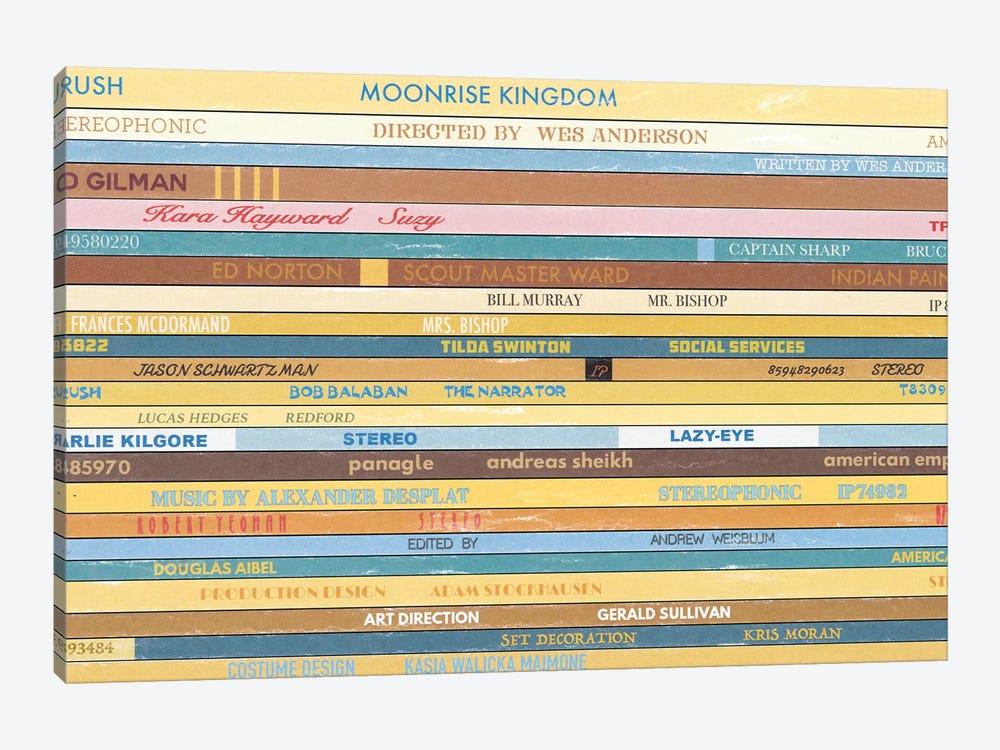 Moonrise Kingdom As Vinyls by Jordan Bolton 1-piece Canvas Print