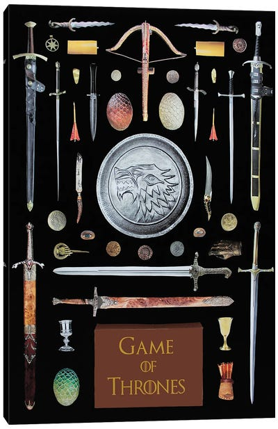 Objects Of Game Of Thrones Canvas Art Print