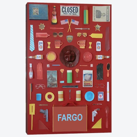 Objects Of Fargo Canvas Print #BLT71} by Jordan Bolton Canvas Artwork