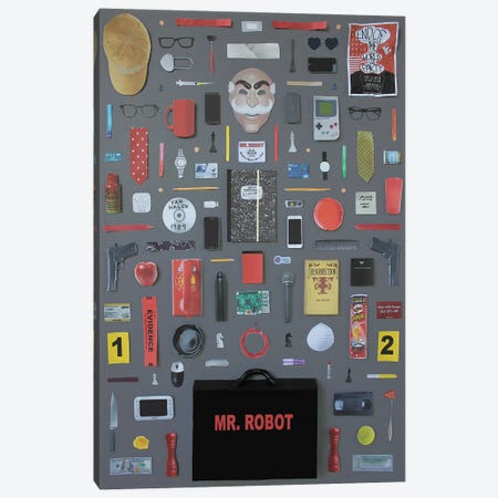 Objects Of Mr Robot Canvas Print #BLT72} by Jordan Bolton Canvas Art