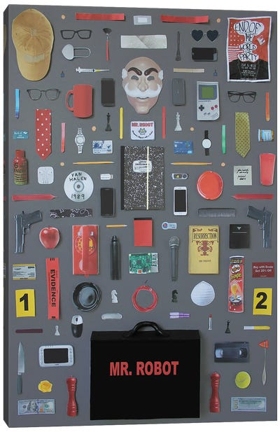 Objects Of Mr Robot Canvas Art Print