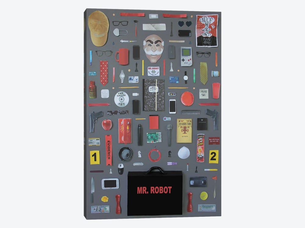 Objects Of Mr Robot by Jordan Bolton 1-piece Canvas Art