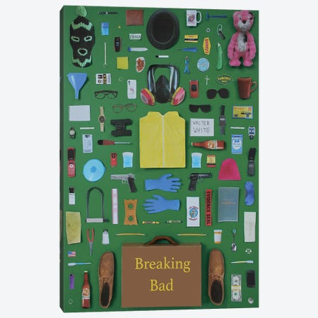 Objects Of Breaking Bad Canvas Print #BLT73} by Jordan Bolton Canvas Artwork