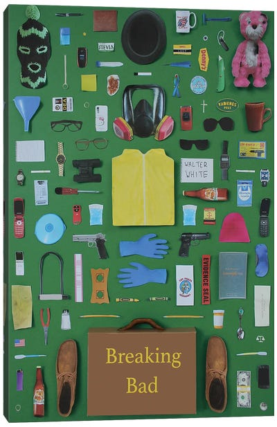 Objects Of Breaking Bad Canvas Art Print