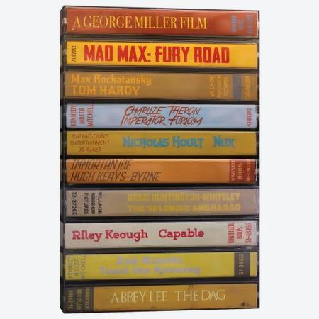 Mad Max: Fury Road As Cassettes Canvas Print #BLT78} by Jordan Bolton Canvas Art