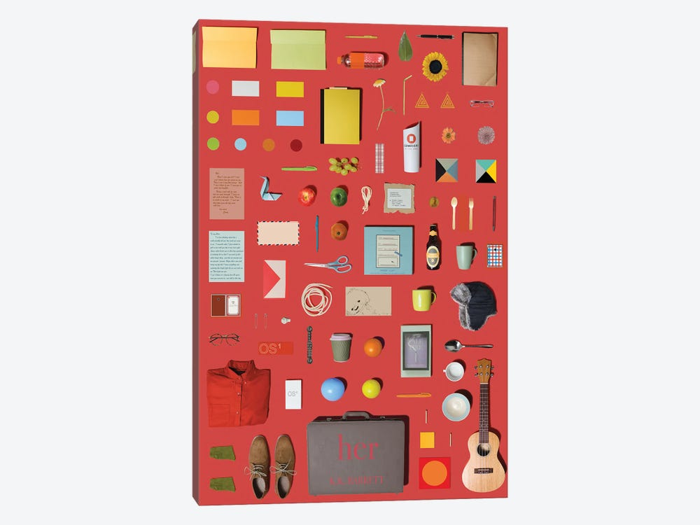 Her (2013) In Objects by Jordan Bolton 1-piece Canvas Artwork