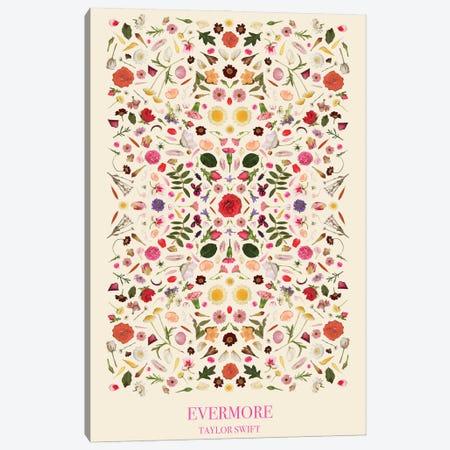 Taylor Swift - Evermore As Flowers Canvas Print #BLT84} by Jordan Bolton Canvas Artwork