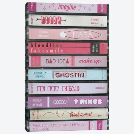 Ariana Grande - Thank U, Next As Cassettes Canvas Print #BLT86} by Jordan Bolton Canvas Art