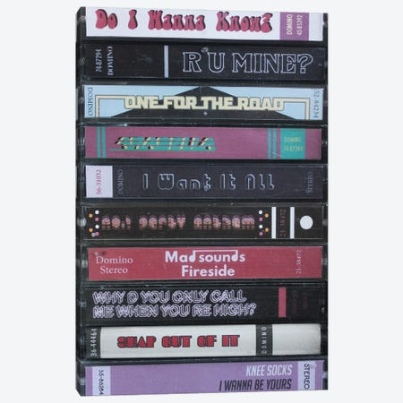 Arctic Monkeys - A.M. As Cassettes Canvas Print #BLT89} by Jordan Bolton Canvas Print