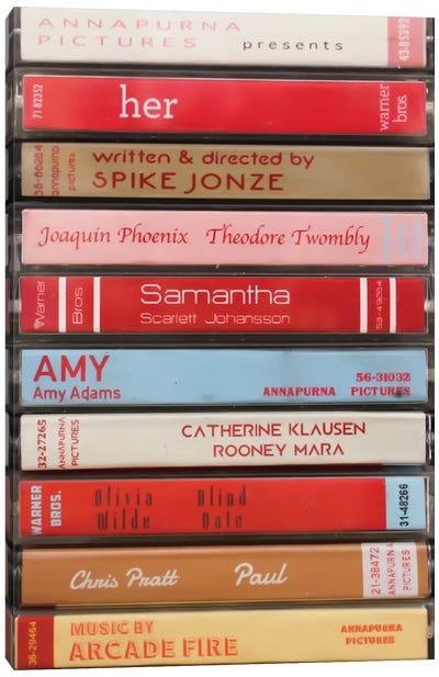 Her (2013) As Cassettes Canvas Art Print