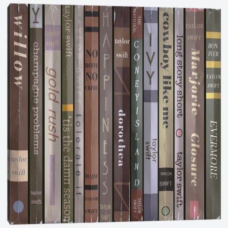 Taylor Swift - Evermore Books Canvas Print #BLT92} by Jordan Bolton Canvas Wall Art