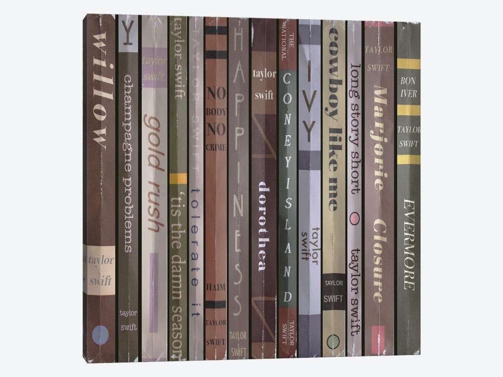 Taylor Swift - Evermore Books by Jordan Bolton 1-piece Canvas Art