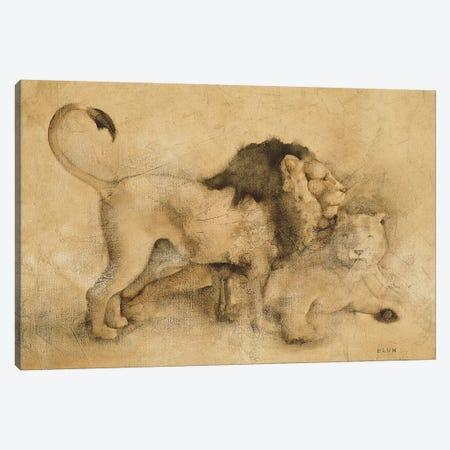 Global Lions Light Canvas Print #BLU3} by Cheri Blum Canvas Artwork