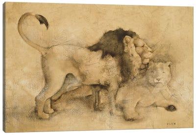 Global Lions Light Canvas Art Print