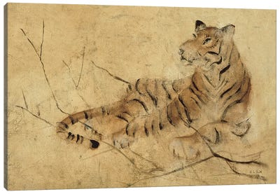 Global Tiger Light Canvas Art Print