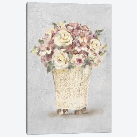 Parlor Roses I Sage Canvas Print #BLU6} by Cheri Blum Canvas Art Print