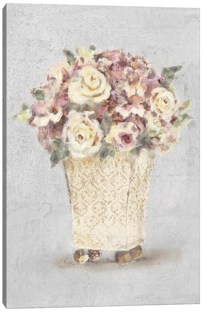 Parlor Roses I Sage Canvas Art Print