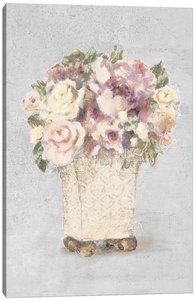 Parlor Roses II Sage Canvas Art Print