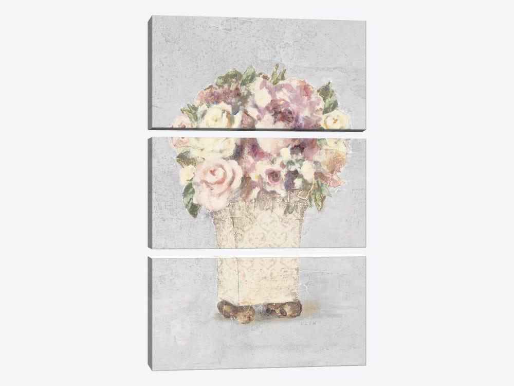 Parlor Roses II Sage by Cheri Blum 3-piece Art Print