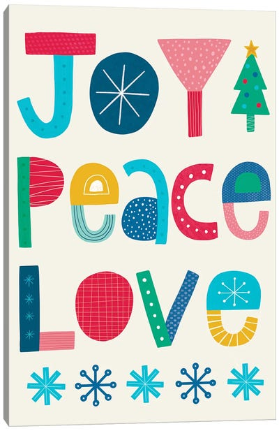 Christmas Joy Peace Love Canvas Art Print