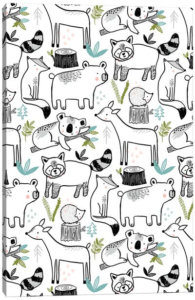 Everyday Inky Critters I Canvas Art Print