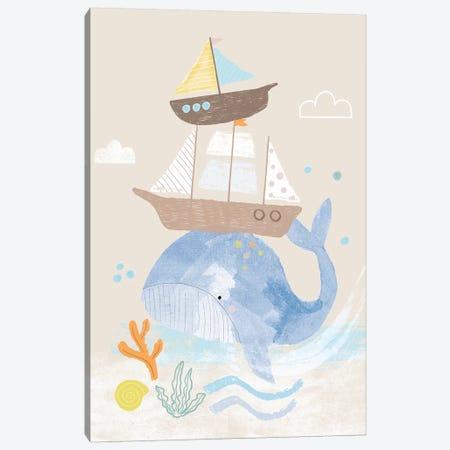 Everyday Under The Sea I Canvas Print #BLW6} by Lisa Barlow Canvas Art Print