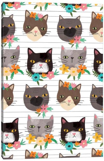 Everyday Feline Foliage Canvas Art Print