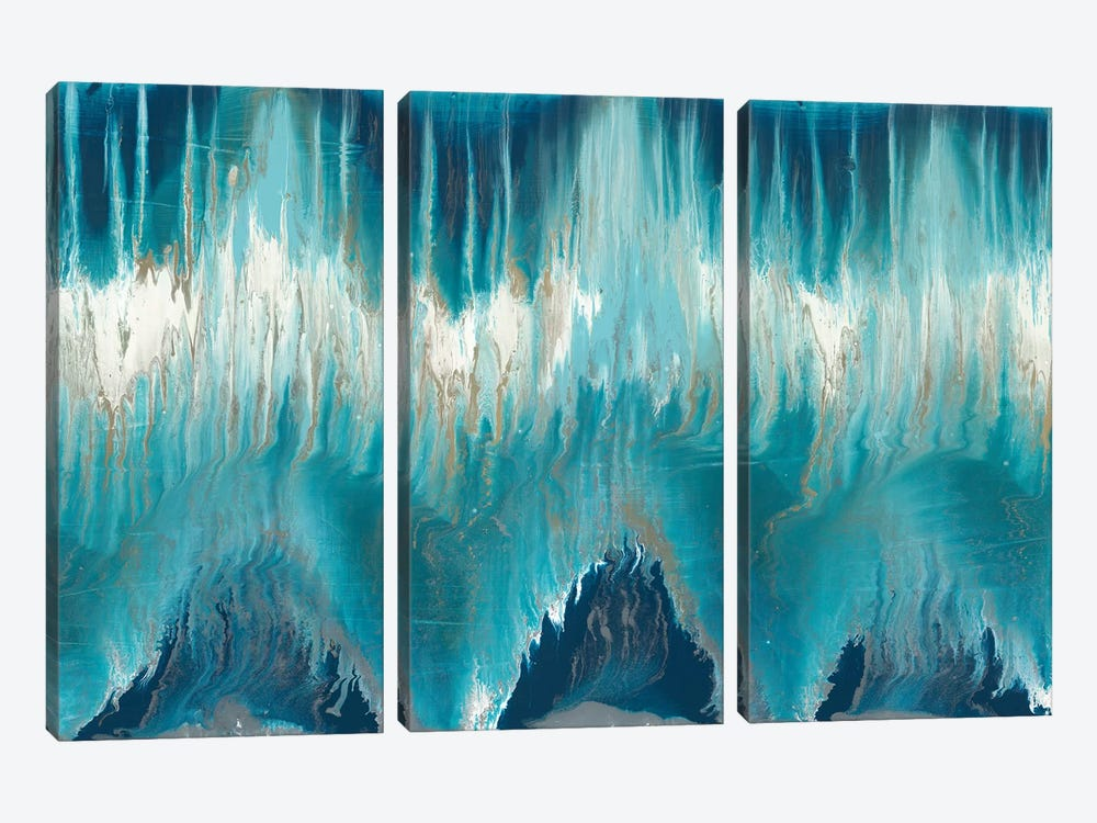 Chevron Revisited by Blakely Bering 3-piece Canvas Art Print