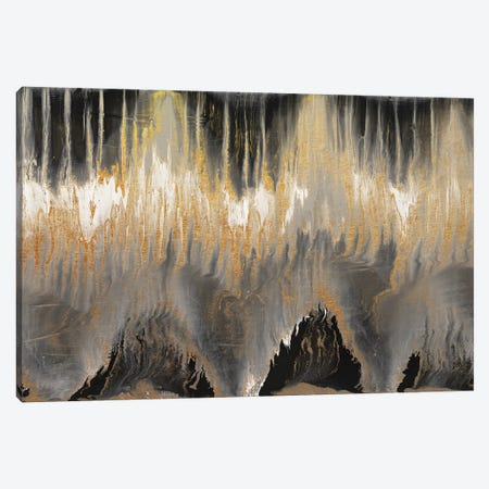 Chevron Revisited - Gold Canvas Print #BLY11} by Blakely Bering Canvas Art Print