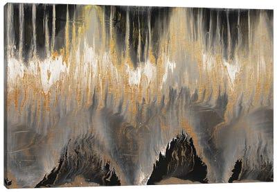 Chevron Revisited - Gold Canvas Art Print