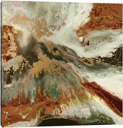 Fluid Copper Canvas Art Print
