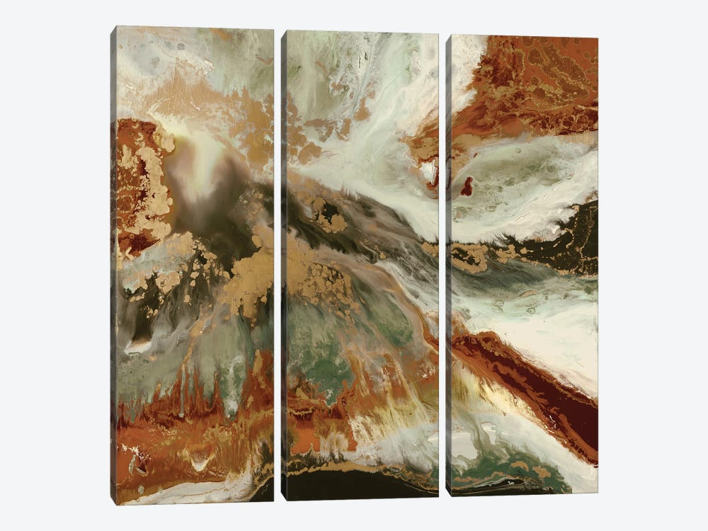 Fluid Copper by Blakely Bering 3-piece Art Print