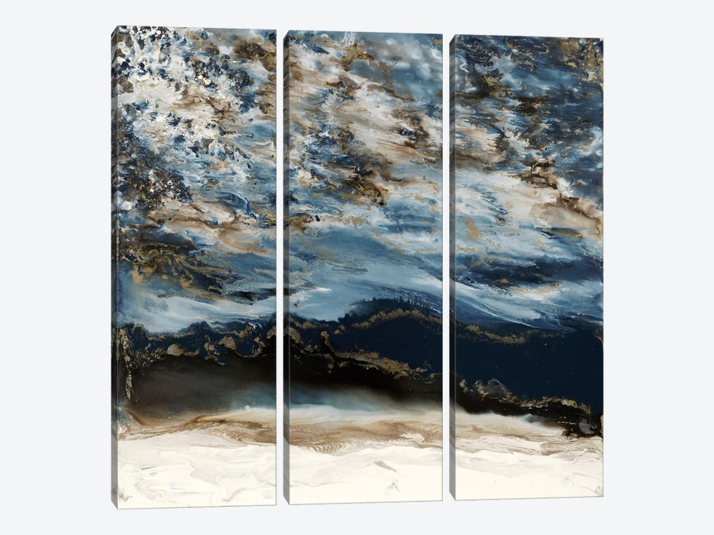 Midnight Wave by Blakely Bering 3-piece Canvas Art Print