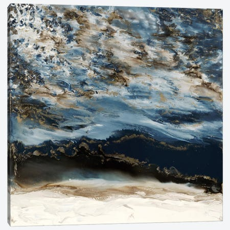Midnight Wave Canvas Print #BLY38} by Blakely Bering Canvas Art Print