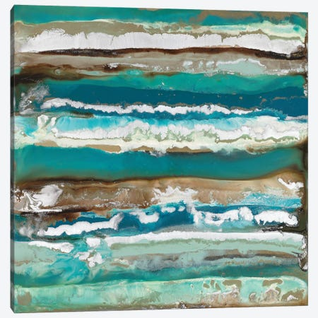 Ocean Layers Canvas Print #BLY44} by Blakely Bering Canvas Art Print