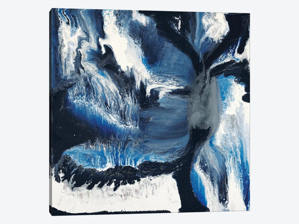 Black And Blue by Blakely Bering 1-piece Canvas Wall Art
