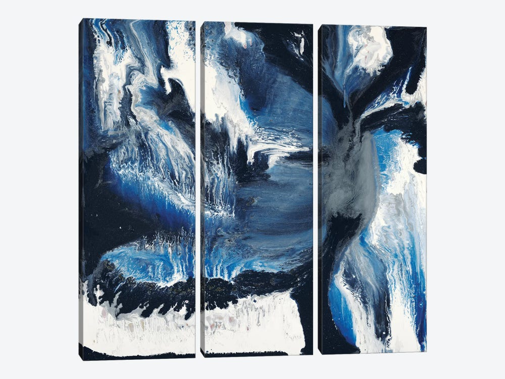 Black And Blue by Blakely Bering 3-piece Canvas Wall Art