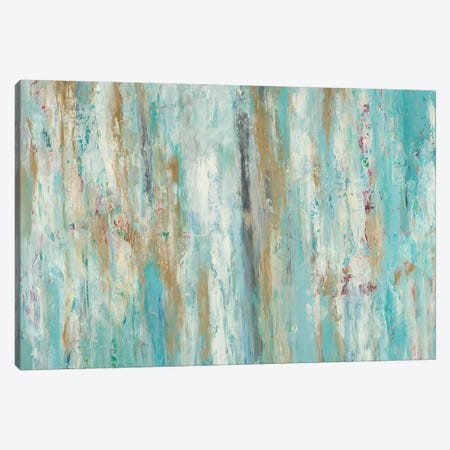 Stream Of Teal Canvas Print #BLY53} by Blakely Bering Canvas Art Print