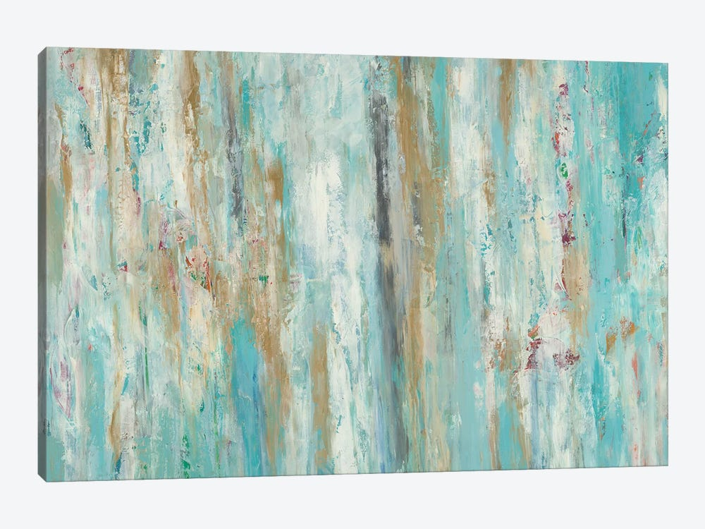 Stream Of Teal by Blakely Bering 1-piece Canvas Artwork
